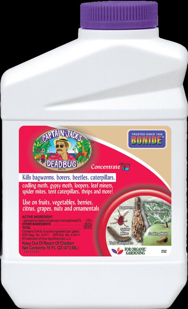 1Pt Captain Jack's Dead Bug Brew Concentrate Insecticide Bonide