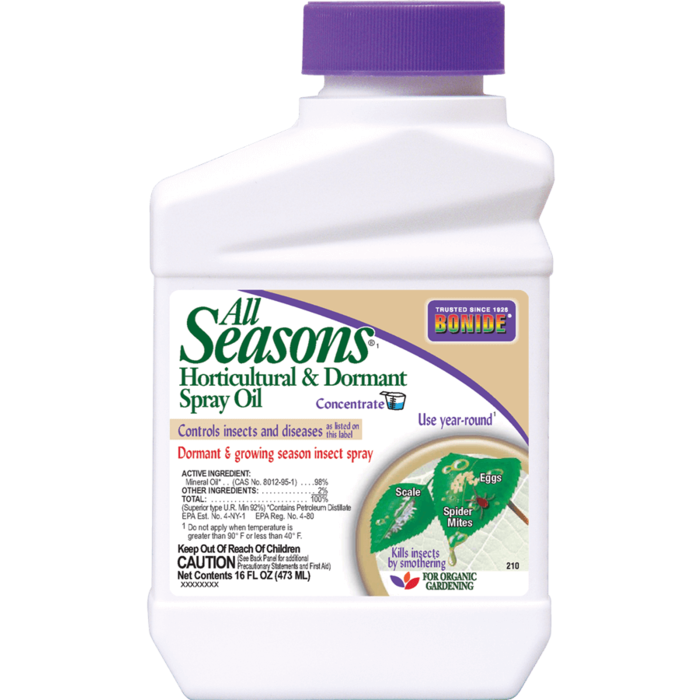 1Pt All Seasons Horticultural & Dormant Oil Spray Concentrate Insecticide Bonide