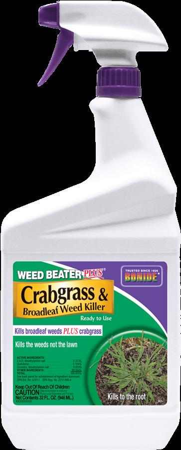 1Qt Weed Beater + Crabgrass Weed Killer RTU Herbicide Bonide