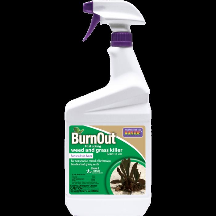 1Qt BurnOut Weed & Grass Killer RTU Herbicide Bonide