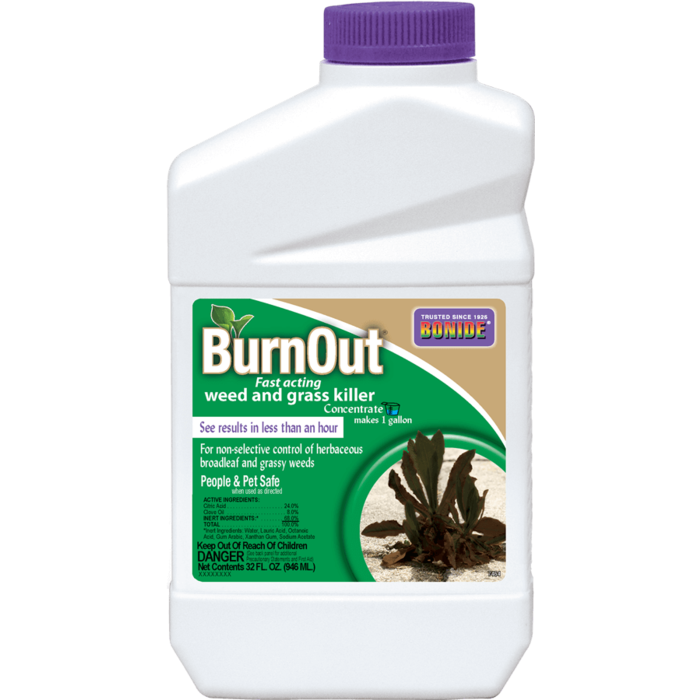 1Qt BurnOut Weed & Grass Killer Concentrate Herbicide Bonide