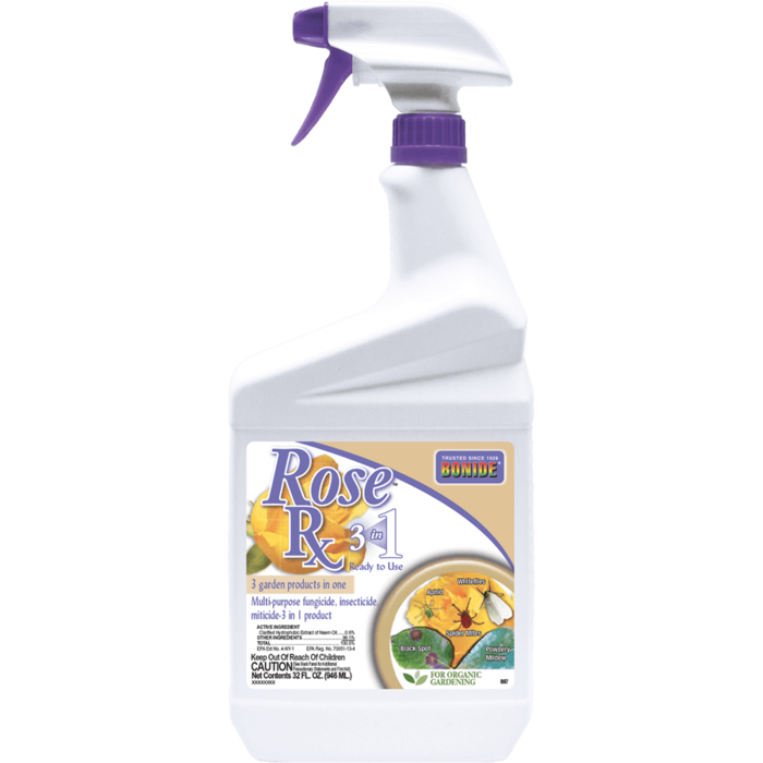 1Qt Rose Rx 3-in-1 RTU Insect-Mite-Fungicide Bonide