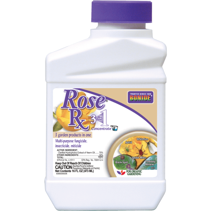 1Pt Rose Rx 3-in-1 Concentrate Insect-Mite-Fungicide Bonide