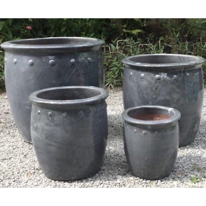 Pot Village Planter w/Dots Sml 11x11 Asst