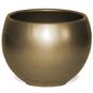 """Pot Glazed Luna Sphere /Bowl 5.5"""" Gold"""