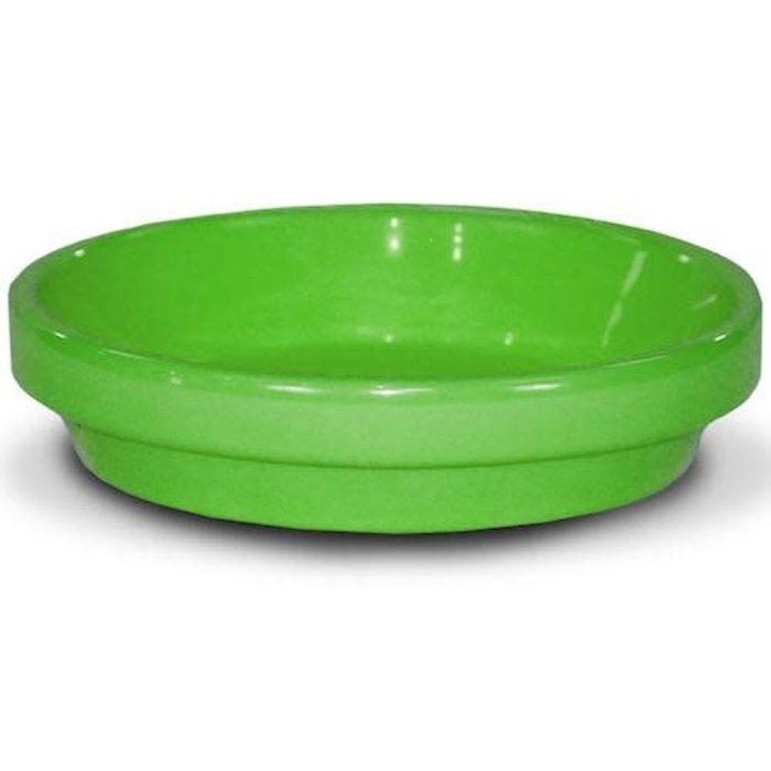 "Saucer 4"" Glazed Brt Green"