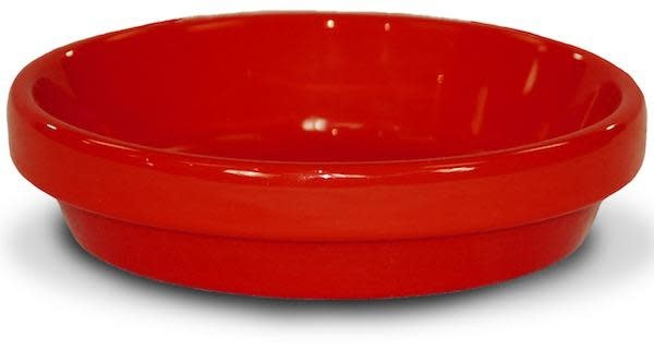 "Saucer 4"" Glazed Red"