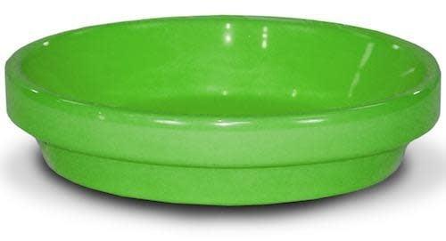 "Saucer 6"" Glazed Brt Green"