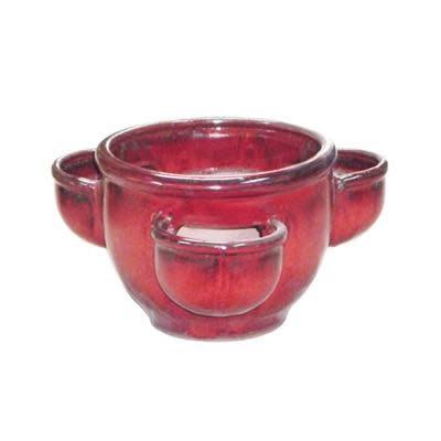 Pot Herb Pot / Strawberry Jar 11X9 Asst Glazed