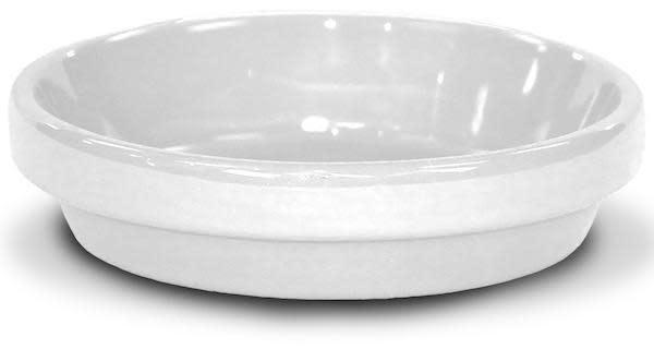 """Saucer 4"""" Glazed White"""