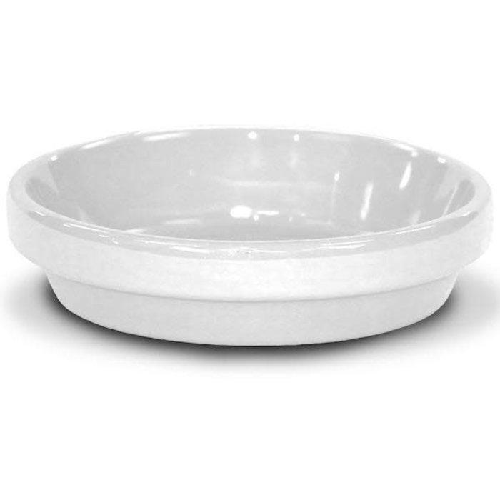 """Saucer 8"""" Glazed White"""