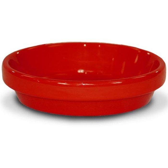 "Saucer 6"" Glazed Red"