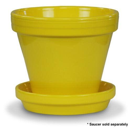 "Pot 4"" Glazed Standard Yellow"