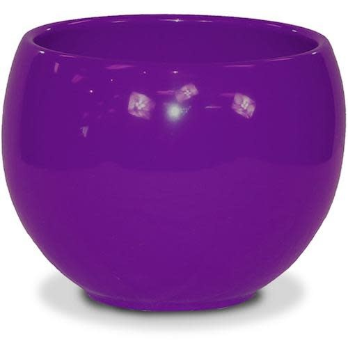 "Pot Glazed Luna Sphere /Bowl 5.5"" Violet"