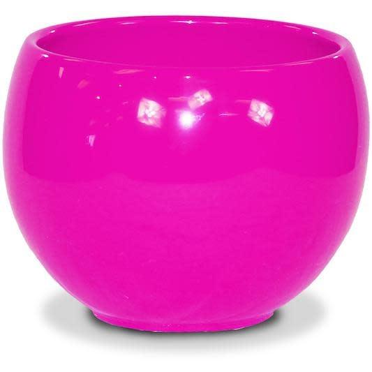 """Pot Glazed Luna Sphere /Bowl 5.5"""" Raspberry"""