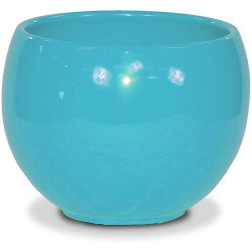 """Pot Glazed Luna Sphere /Bowl 5.5"""" Robin Egg Blue"""