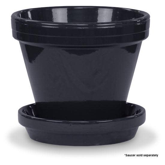 """Pot 8"""" Glazed Standard Black"""