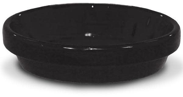 "Saucer 8"" Glazed Black"