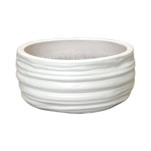 Pot Ridged Low Bowl Lrg 18x8 Asst
