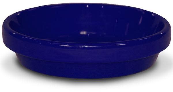 "Saucer 4"" Glazed Cobalt Blue"