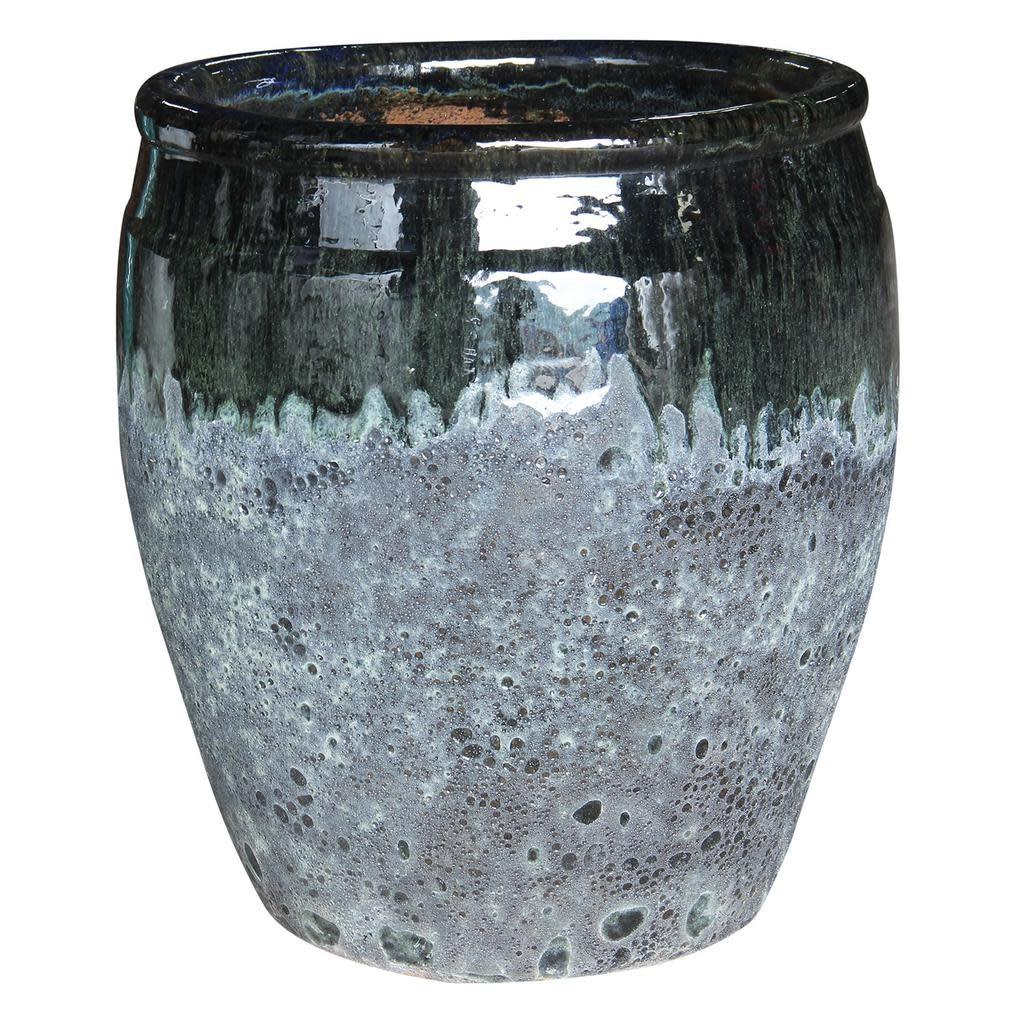 Pot /Urn Bora Bora Lrg 17x19 Aged 2-tone Asst