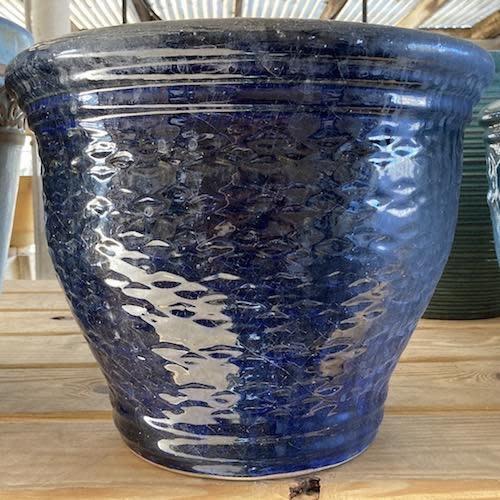 Pot Miranda Rd Planter Lrg 11x9 Asst Peacock/Rippled