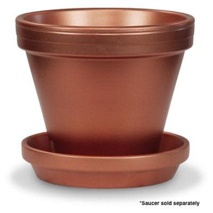 "Pot 4"" Glazed Standard Copper"
