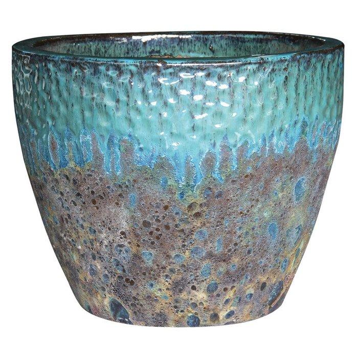 Pot Bora Bora Planter Lrg 16x13 Aged 2-tone Asst