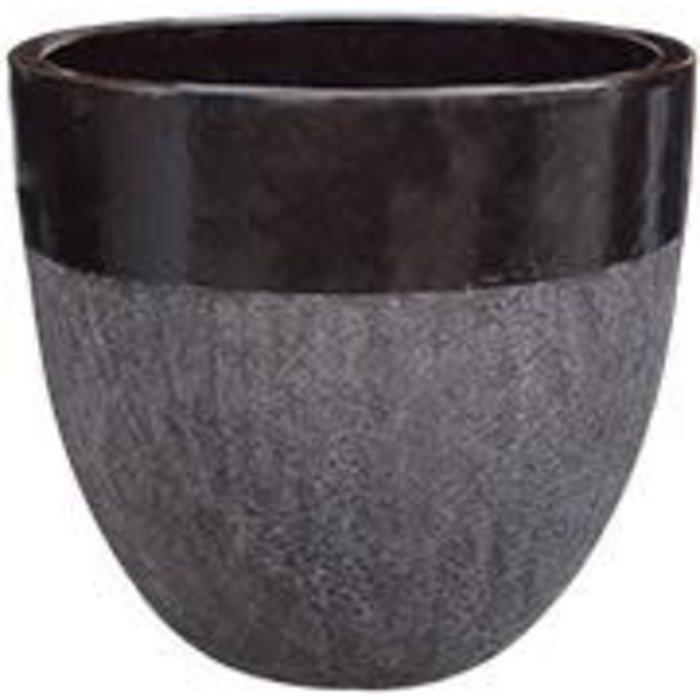 Pot 2-Tone Egg Lrg 14x14 Asst