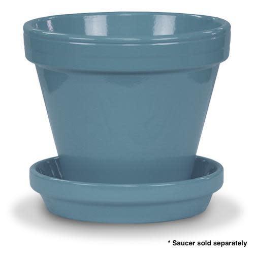 """Pot 4"""" Glazed Standard Ice Blue"""