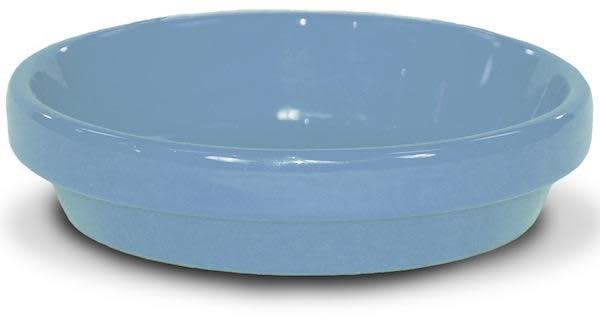"Saucer 4"" Glazed Ice Blue"