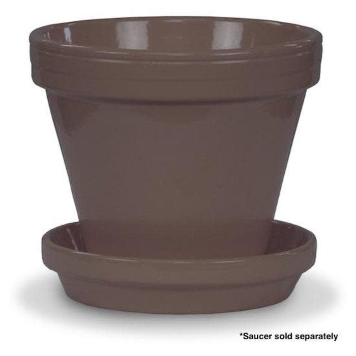 """Pot 4"""" Glazed Standard Putty Grey"""