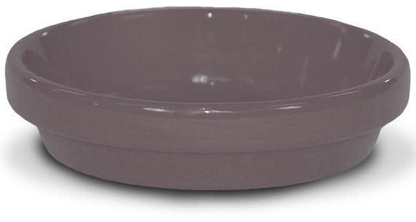 """Saucer 4"""" Glazed Putty Grey"""