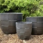 Pot Ethan Checker Planter Sml 8x8 Pewter