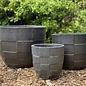 Pot Ethan Checker Planter Lrg 15x12 Pewter