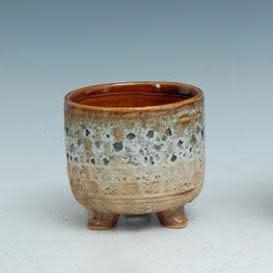 Pot Earth Tone Footed/Feet Sml 5x5 Multi