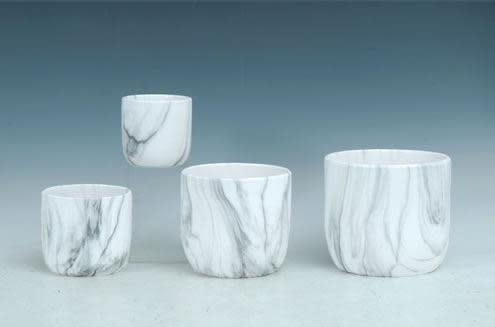 Pot Marble Look XLG 8x7 White