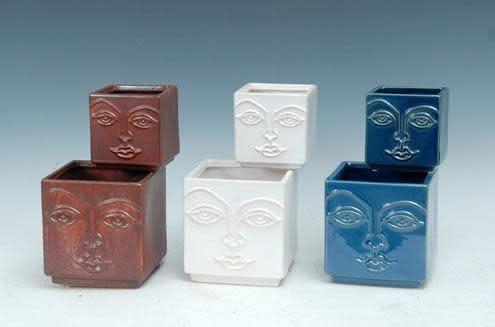 Pot Square Face Woman Sml 4x4 Asst