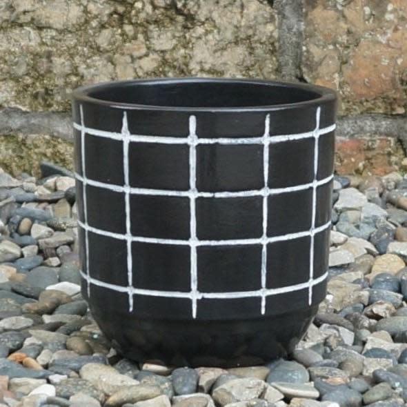 Pot Maria Squares 6x6 Black
