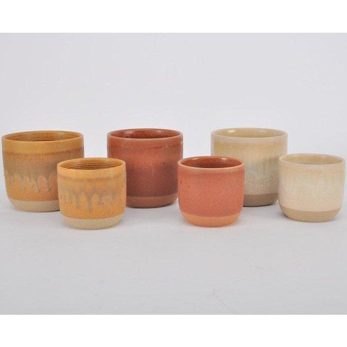 Pot Santa Fe Straight Sided Lrg 6x5 Asst