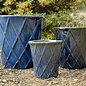 Pot Basket Diamond Lrg 19x20 Blue/White