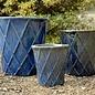 Pot Basket Diamond Med 15x15 Blue/White