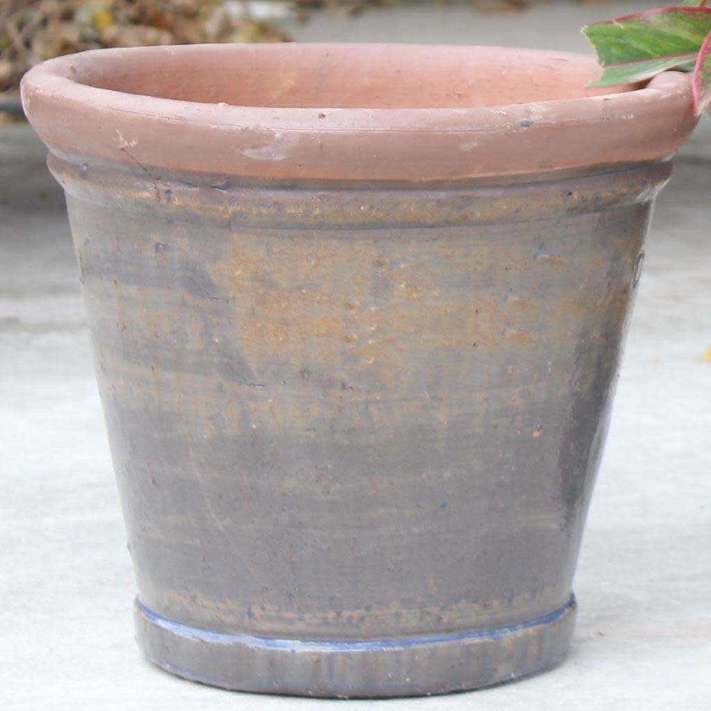 Pot Round Stackable 13x11 Rustic Blue