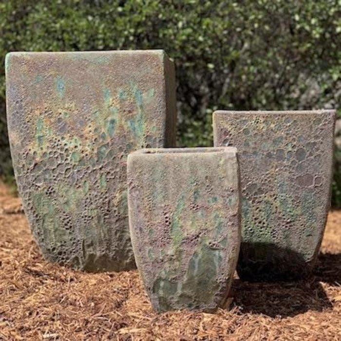 Pot Orlinda Square II Med 13x19 Atlantis Green