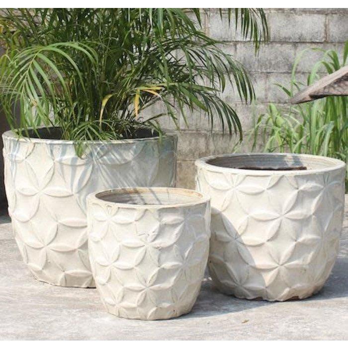 Pot Sarma Flower Petal Design Sml 13x13 Asst
