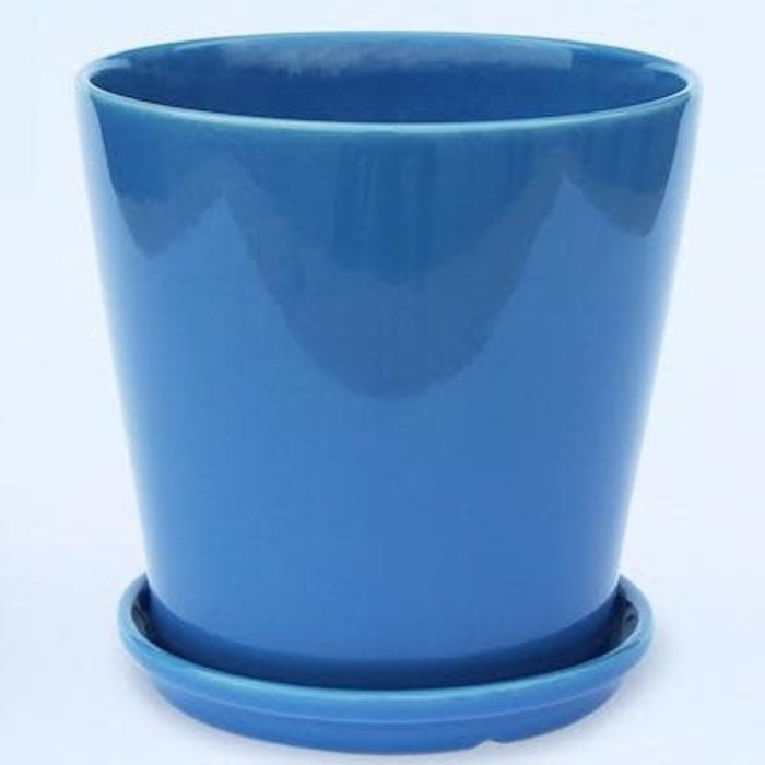 Pot Round Taper w/Saucer Sml 4x4 Asst
