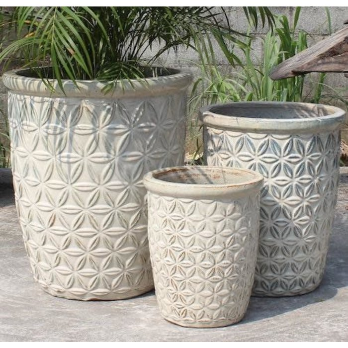 Pot Sarma Vase Flower Petal Design Sml 13x17 Asst
