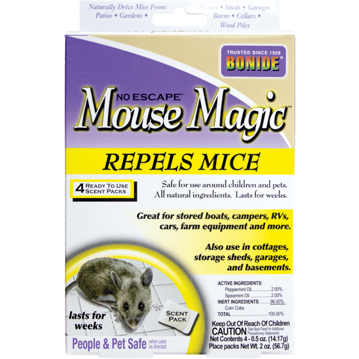 1Pkg Mouse Magic 4/pk All Natural Repellent Bonide