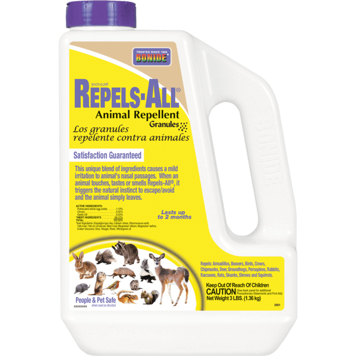 3Lb Repels-All Animal Repellent Granules Bonide
