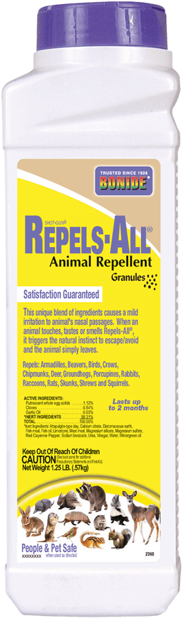 1.25Lb Repels-All Animal Repellent Granules Bonide